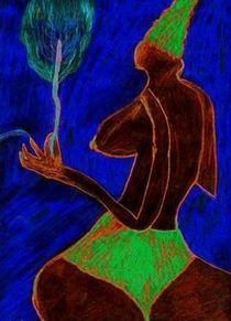 Frau mit Blume by artmagic