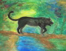 Schwarzer Panther im Dschungel von kattobello