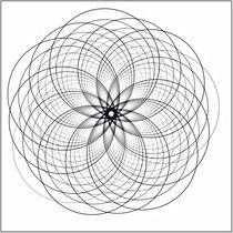 Mandala weiß by fraktalise