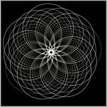 Mandala schwarz by fraktalise