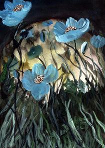 Blauer Mohn  by Servet Islak