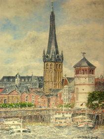 Rheinpromenade Düsseldorf von Wilhelm Brück