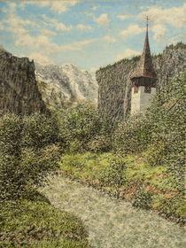 Kirchlein am Fluss von Wilhelm Brück