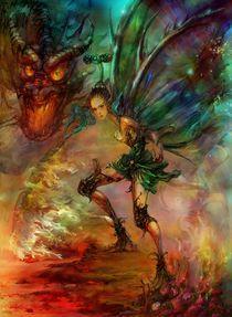 Flower fairy series__ Elf Warrior  by carol