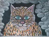 hinterlistige Katze  by Karin Will