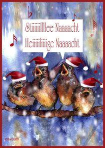 stille Nacht, heilige Nacht, Weihnachtskarte by barbara schreiber