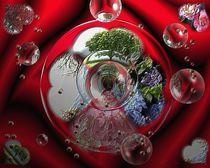 Herz der Jahreszeiten in Glasform by Gabriele Nedilka