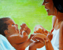 Mutter und Kind 2 von Maria Abt
