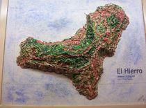 Die Kanarische Insel El Hierro handmodelliert by Ottmar Gebhardt