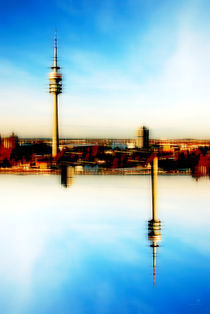 munich skyline by hannes cmarits