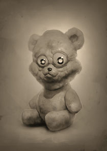 pretty bear in sepia by Oleg Vdovenko