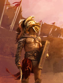 Rising Gladiator Artwork by Lupu Sorin