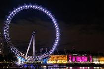 London bei Nacht - London Eye by Robert Schulz
