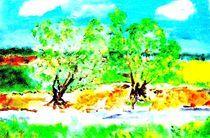 frühlingsbäume von manfred richter