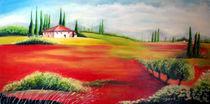 Toskana in der Mohnblüte  von Irena Scholz