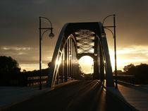 Sternbrücke in Magdeburg im Sonnenuntergang von magdeburgerin