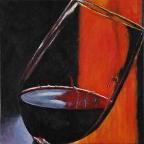 Glas Wein by Gabriele Schilling