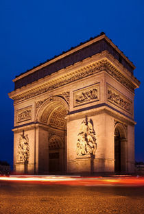 Arc de Triomphe am Abend, Paris