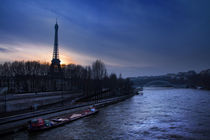 Blick auf den Eiffelturm und die Seine by René Aigner
