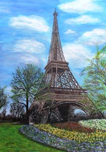 Frühling am Eiffelturm von Elisabeth Maier
