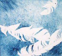 Drei weiße Federn by Heike Jäschke