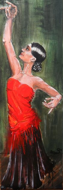 Flamencotänzerin in rot by Sabine Berger