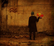 Girl with baloons von Evita Knospina