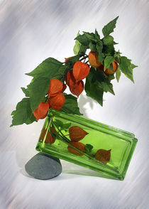 Vase mit Lampions by Wolfgang Wittpahl