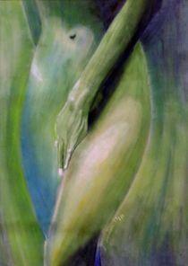 weiblicher Akt grün von Birgit Summa