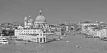 venice Grand Canal Entrance B&W by Ian C Whitworth