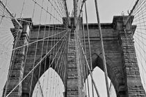 Brooklyn Bridge B&W by Ian C Whitworth