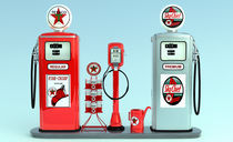 1950's Texaco Gas Pump Island by Graham Hughes