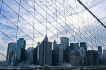 View of NY City from Brooklyn Bridge by Megan Daniels
