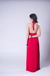 woman in red by Katerina Shestakova