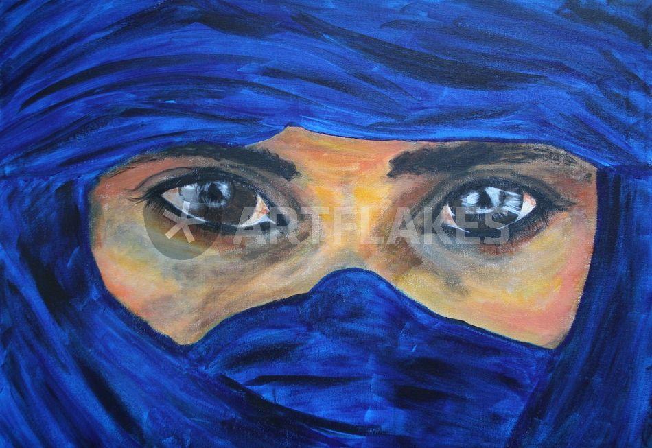 tuareg malerei als poster und kunstdruck von silke. Black Bedroom Furniture Sets. Home Design Ideas