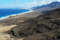 Fuerteventura, Westküste Jandía mit der Playa de Cofete by Frank Rother