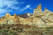 Teneriffa, Vulkanlandschaft Las Canadas mit Pico deTeide by Frank Rother