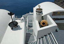 Santorini, Architektur in Firostefani by Frank Rother