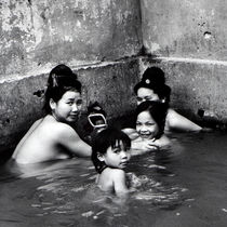 Bathing-thais-son-la-postcard
