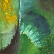 Abstraktes/ Grünblau von Ute Hegel