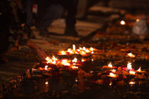Lamps on the Ganges-7  Varanasi,India by Soumen Nath