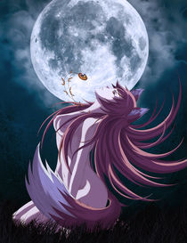 Moon Wolf by tonee