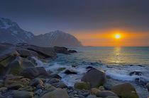 Sunset beach von Stein Liland