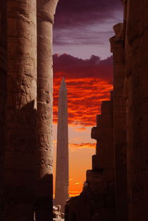 Sunset at Karnak by David Love