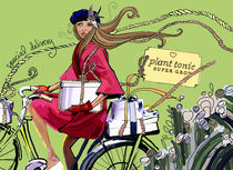 Girl on Bike by elizabeth haywood