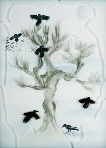 Rabenbaum - Raven tree von Patti Kafurke