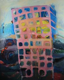 Block of flats,oil on canvas 2002 - 2010 by aleksandra gorska