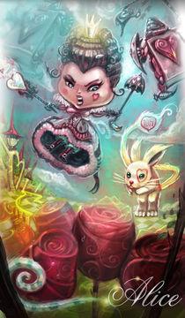 """""""Queen of Hearts"""" Alice in wonderland  von vieira Da Silva Miguel"""