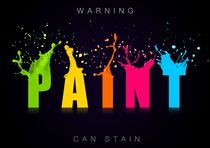 Warning, Paint Can Stain by Sam Leonard