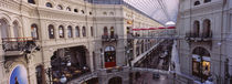High angle view of a shopping center, GUM, Kremlin, Moscow, Russia von Panoramic Images